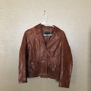 Bernardo Genuine Leather Blazer